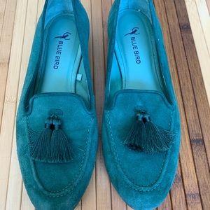 Brazilian bluebird green loafers